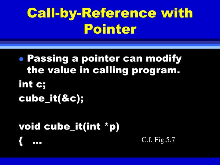 Call-by-Reference with Pointer