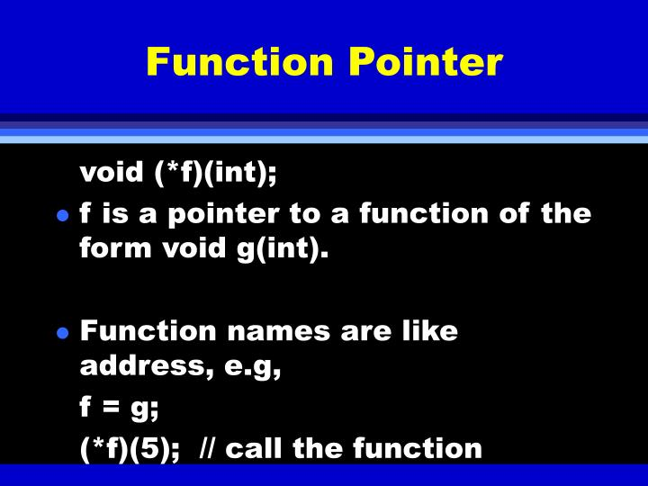 Function Pointer