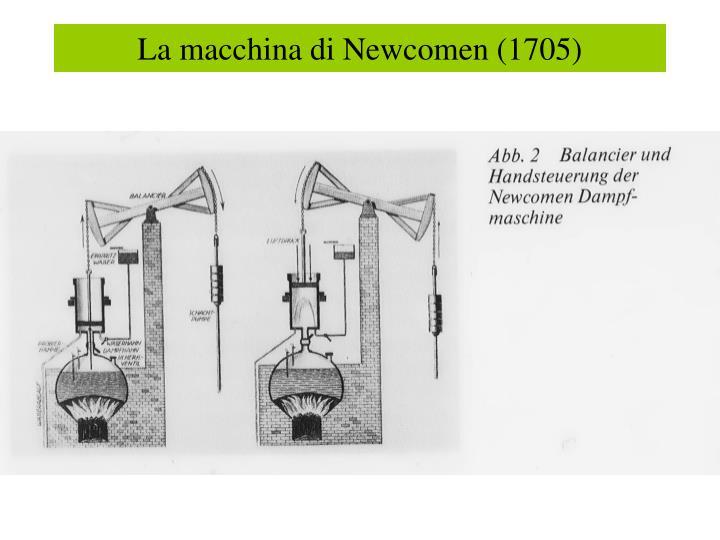 La macchina di Newcomen (1705)