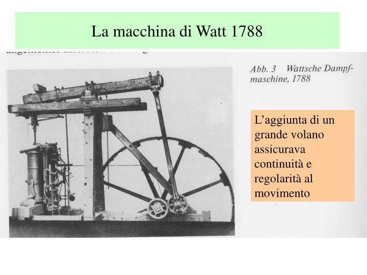 La macchina di Watt 1788