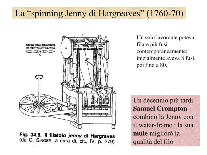 "La ""spinning Jenny di Hargreaves"" (1760-70)"