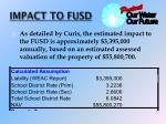impact to fusd
