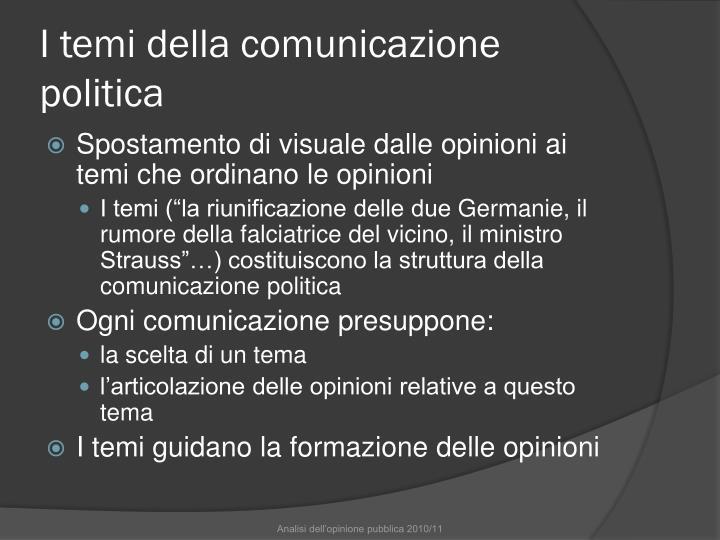 I temi della comunicazione politica