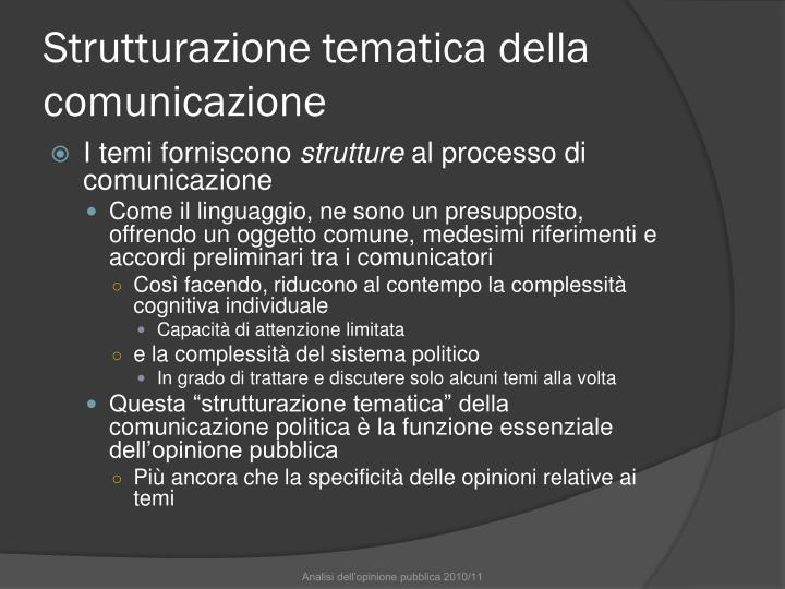 Strutturazione tematica della comunicazione