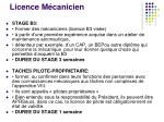 licence m canicien