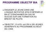 programme objectif bia1