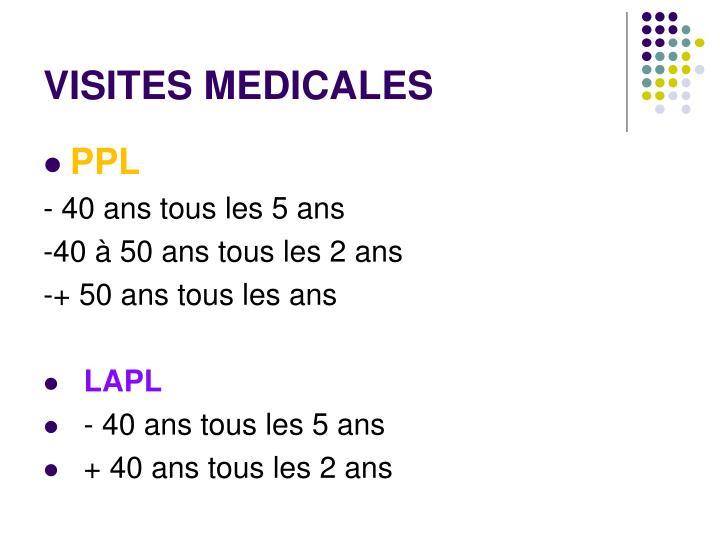 VISITES MEDICALES