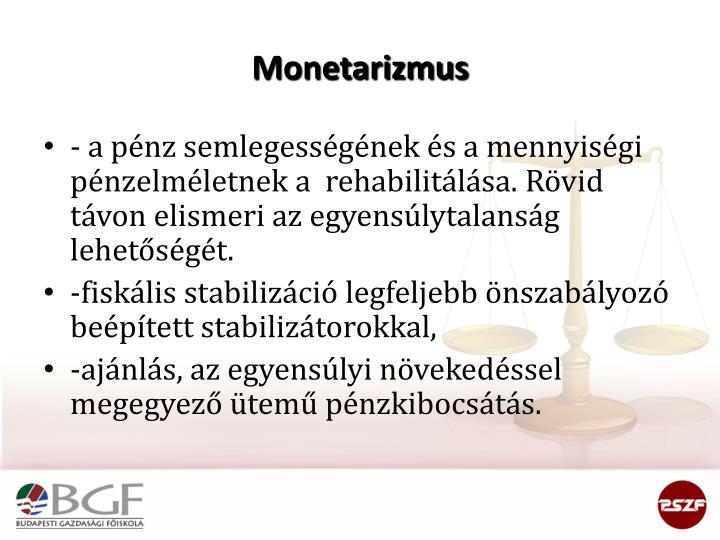 Monetarizmus