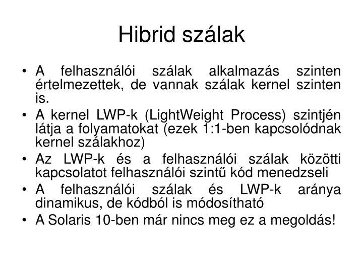 Hibrid szálak