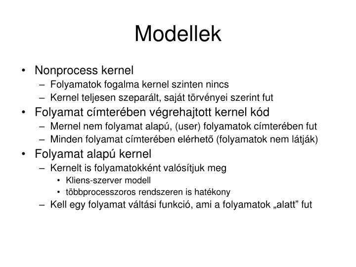 Modellek