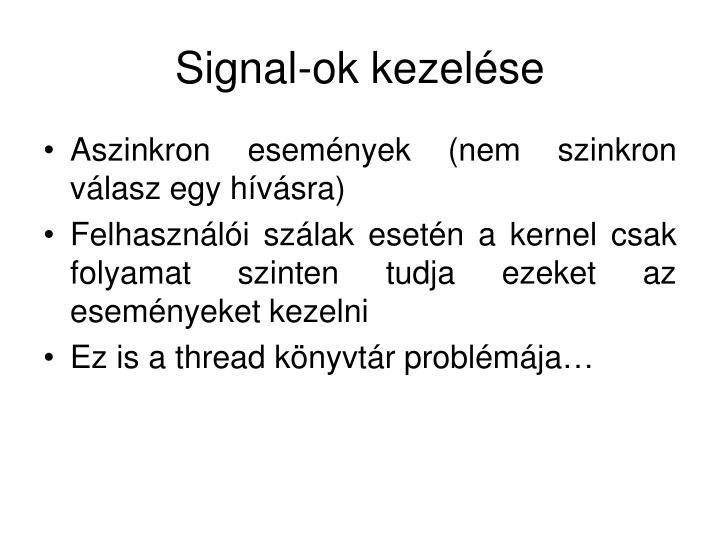 Signal-ok kezelése
