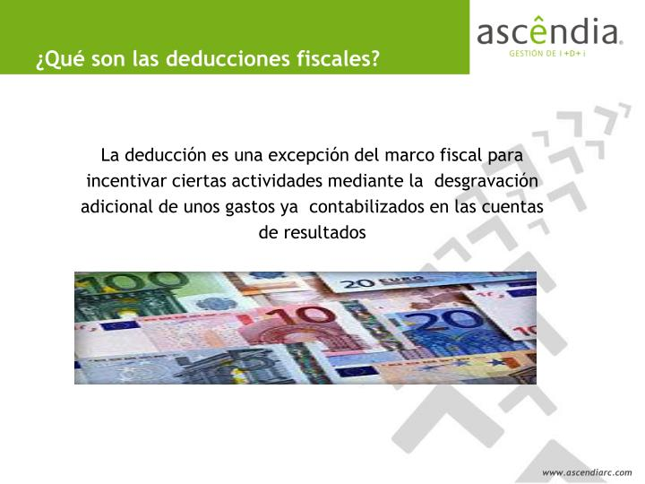 ¿Qué son las deducciones fiscales?
