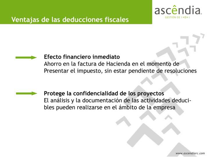 Ventajas de las deducciones fiscales