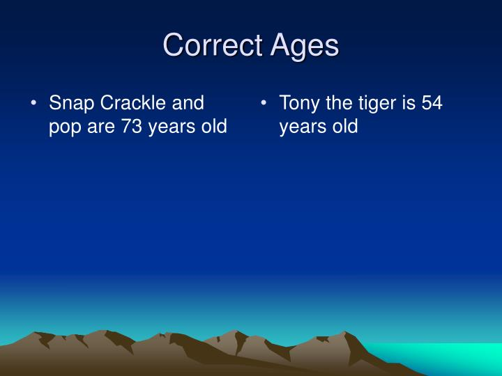 Snap Crackle and pop are 73 years old