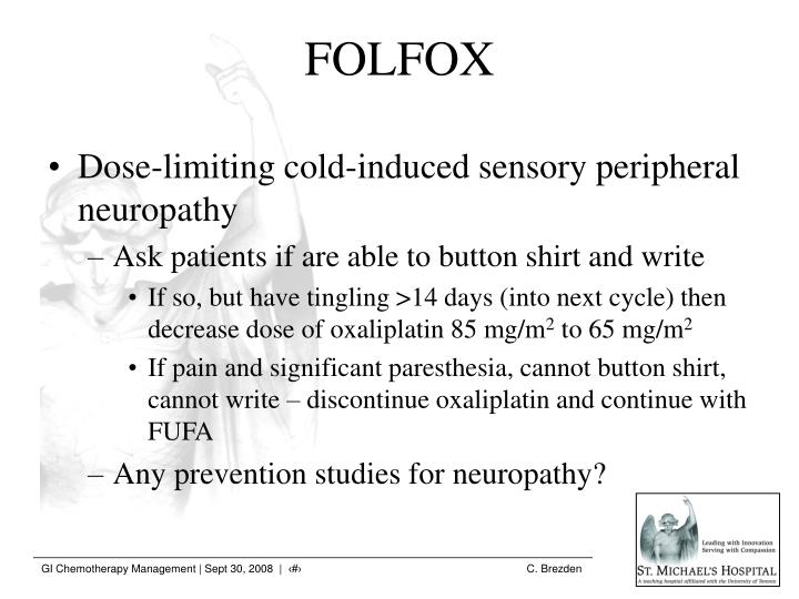 Dose-limiting cold-induced sensory peripheral neuropathy