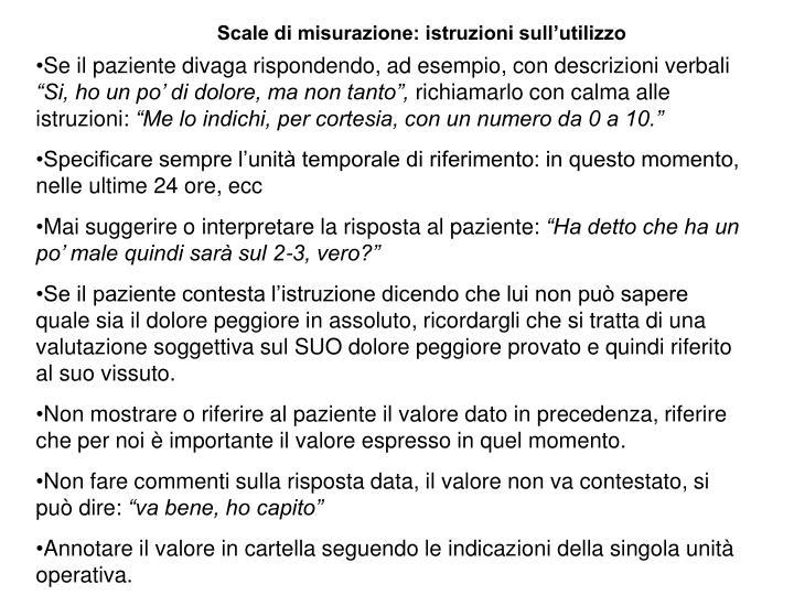 Scale di misurazione: istruzioni sull'utilizzo