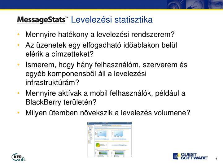 Levelezési statisztika