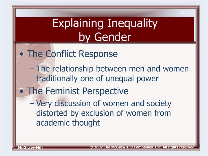 Conflict perspective gender inequality