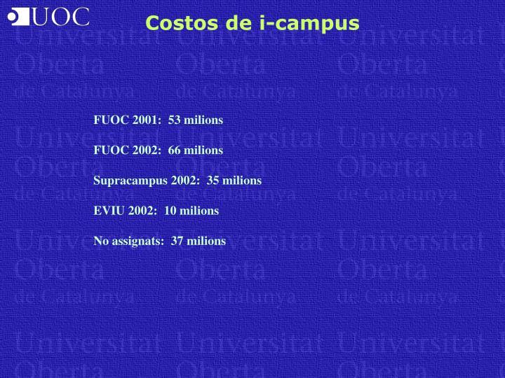 Costos de i-campus
