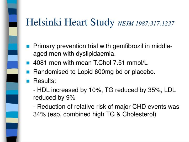 Helsinki Heart Study