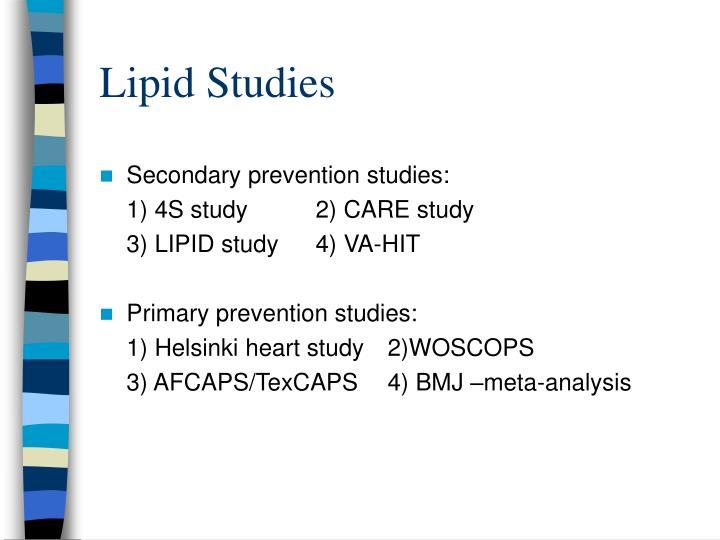Lipid Studies