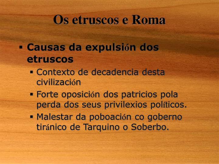 Os etruscos e Roma