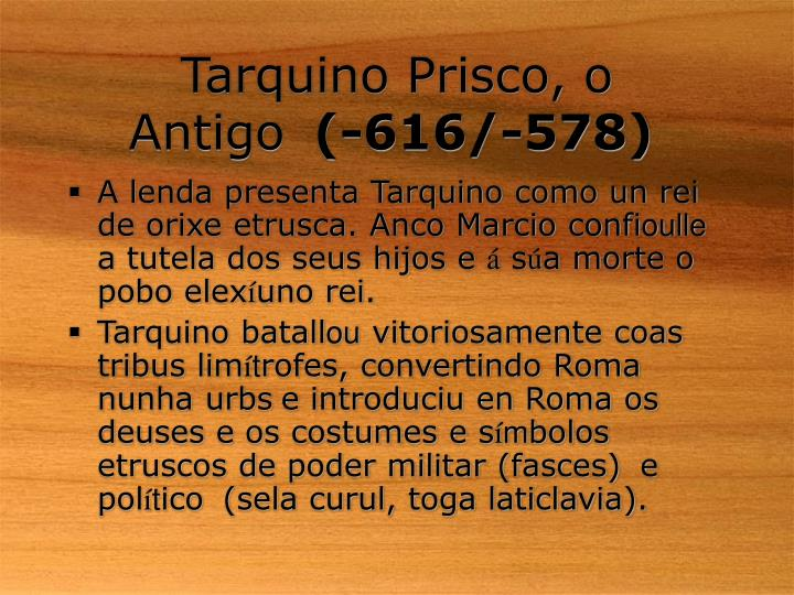 Tarquino Prisco, o Antigo