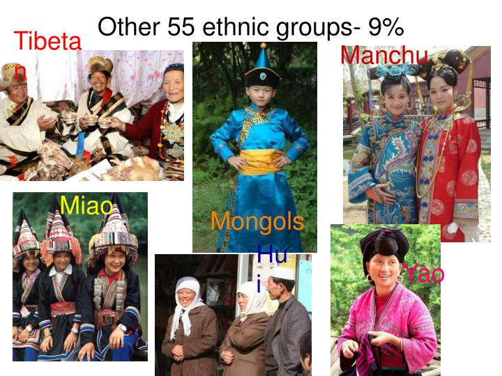 Other 55 ethnic groups- 9%