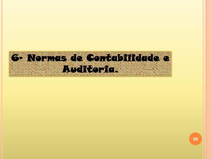 6- Normas de Contabilidade e Auditoria.