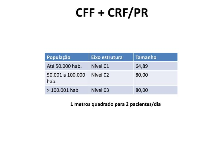 CFF + CRF/PR