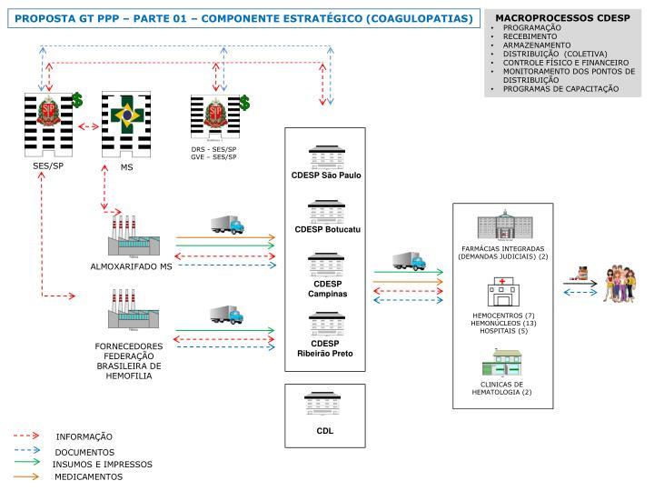 PROPOSTA GT PPP  PARTE 01  COMPONENTE ESTRATGICO (COAGULOPATIAS)