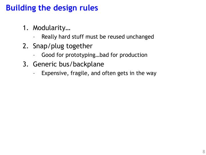 Building the design rules