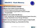aduc812 flash memory