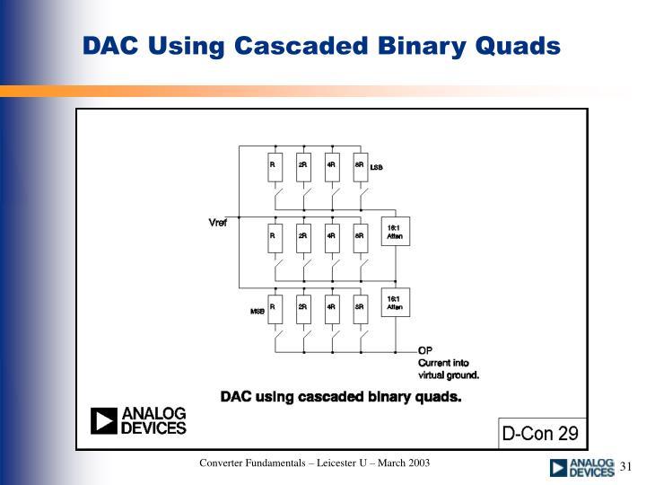 DAC Using Cascaded Binary Quads