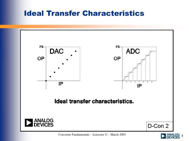 Ideal Transfer Characteristics