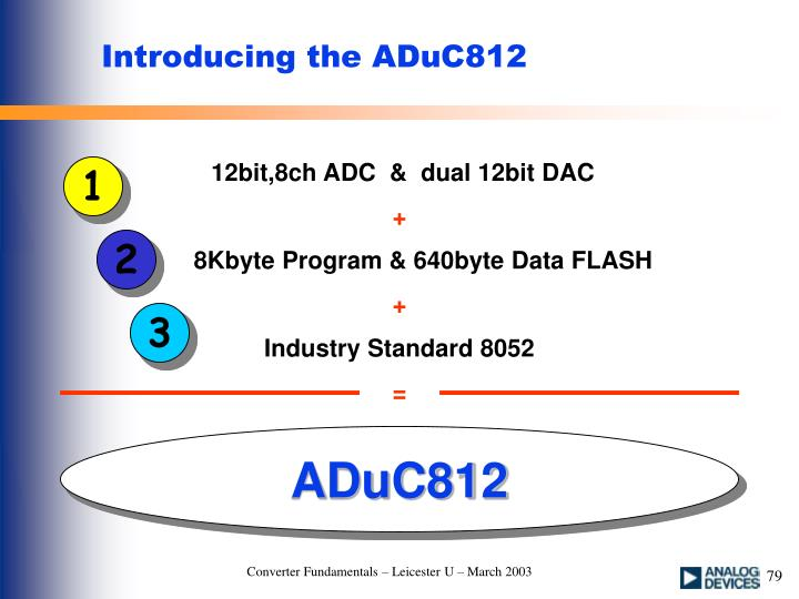 Introducing the ADuC812