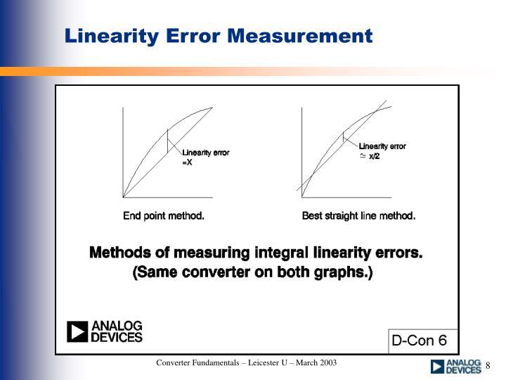 Linearity Error Measurement