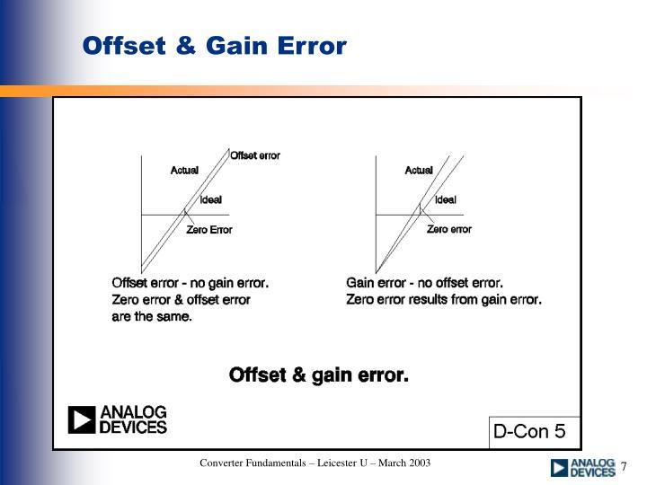 Offset & Gain Error
