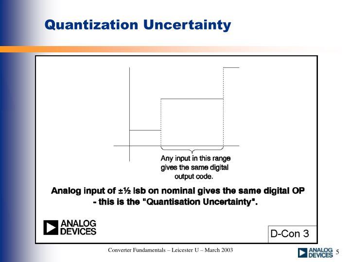 Quantization Uncertainty