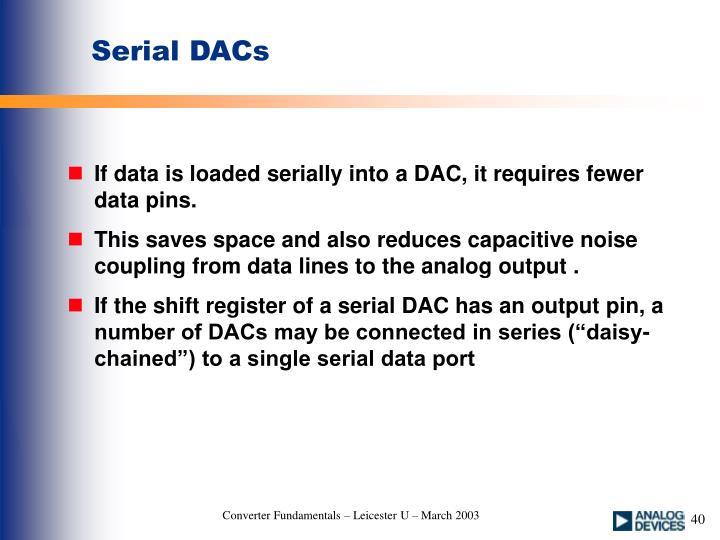 Serial DACs