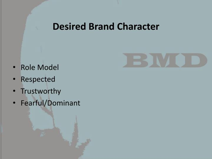 Desired Brand Character