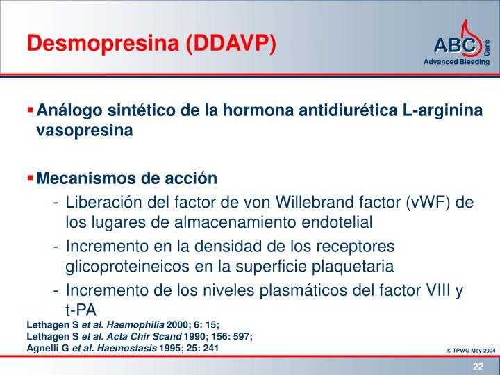 Desmopresina (DDAVP)