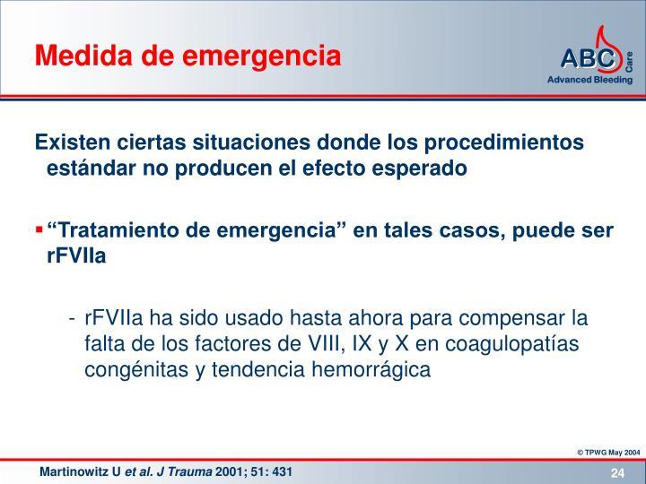 Medida de emergencia
