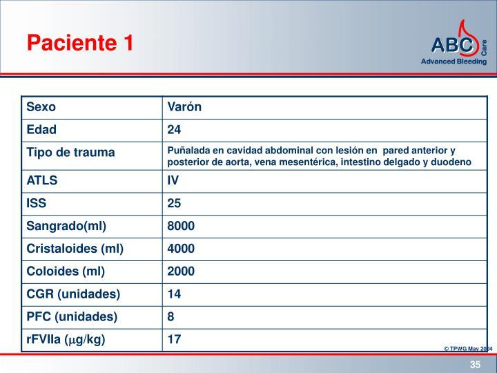 Paciente 1