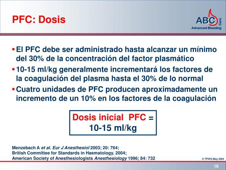 PFC: Dosis