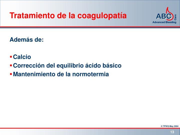 Tratamiento de la coagulopatía