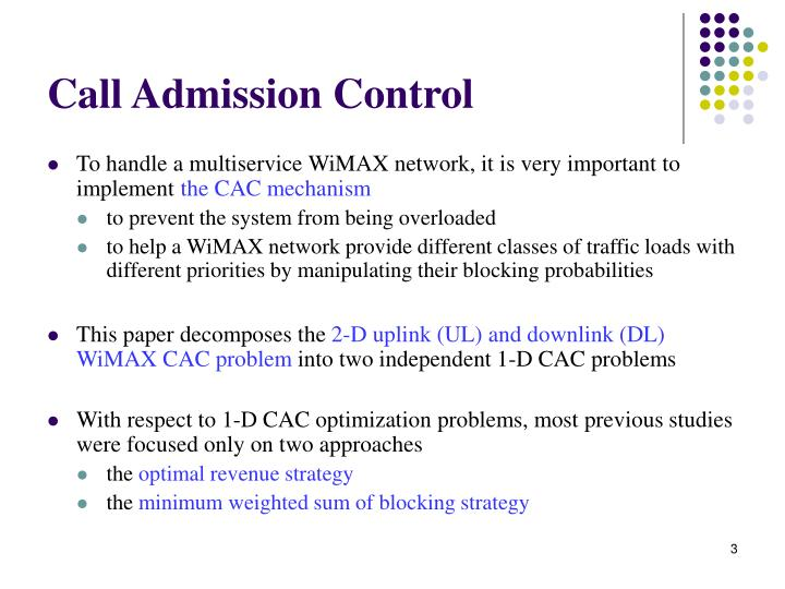 Call admission control