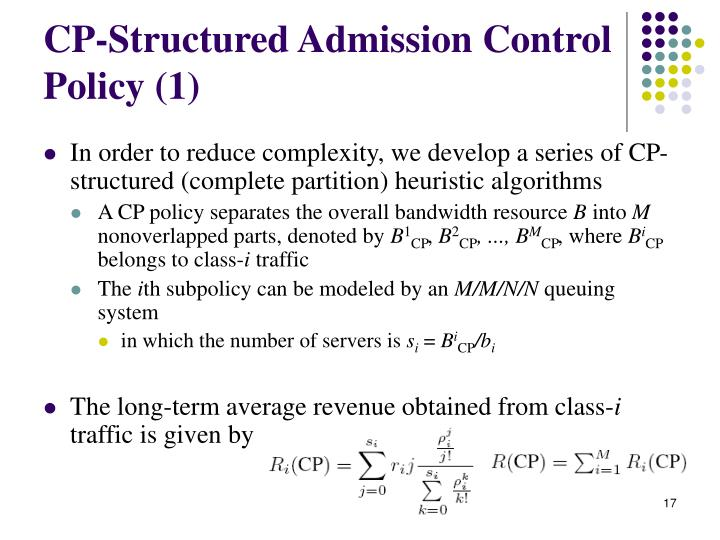 CP-Structured Admission Control Policy (1)