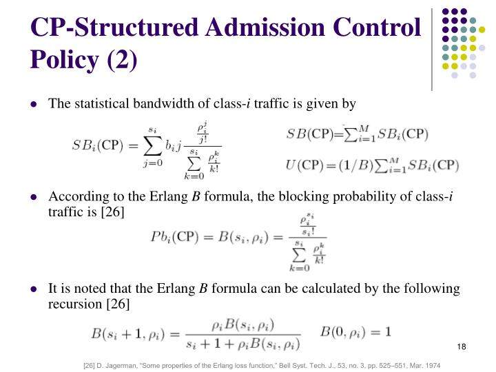 CP-Structured Admission Control Policy (2)