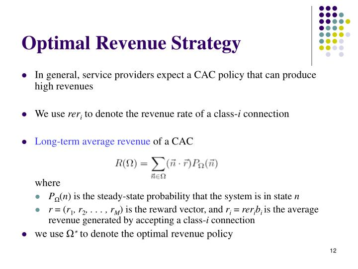 Optimal Revenue Strategy